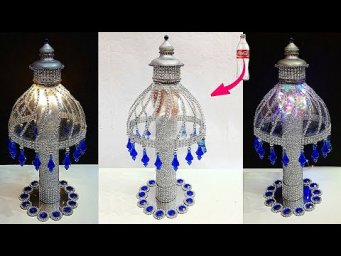 DIY Lamp/Lampshade made From Plastic Bottle at home| Best out of waste room decoration ideas