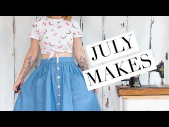 My July makes - skirts, turbans, knickers and a failed top