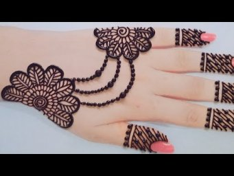 Very Easy & Simple Backhand Mehndi Design For Eid_Mehndi Ka Design_Henna Deisgn