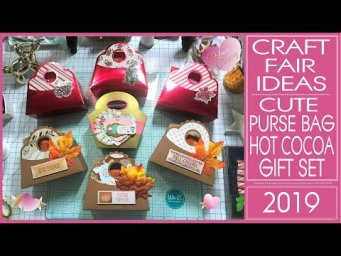 Craft Fair Ideas 2019 - Cute Purse Bag Hot Cocoa Gift Set - Free Template   Flash Giveaway Winners