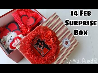 14Feb Surprise Love Box||Valentine week cards And More surprises Inside The Box||Valentine love box