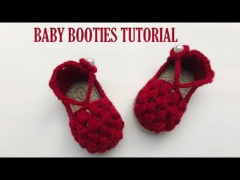 How To Crochet Cute and Easy Baby Booties | Crochet Baby Booties For Beginners | Baby Shoes Pattern