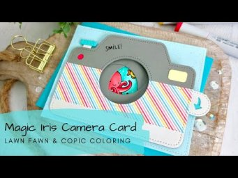 Magic Iris Camera with Underwater Scene | Copic Coloring | Lawn Fawn