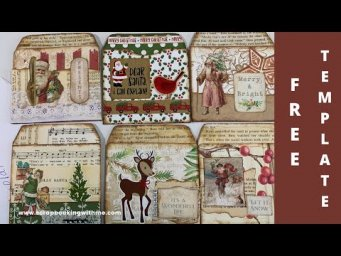 FREE TEMPLATE & FANCY POCKETS MADE EASY ~ MORE CHRISTMAS EPHEMERA