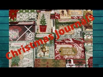 STARTING OUR CHRISTMAS JOURNALS ~ EPHEMERA POCKETS FROM SCRAPS FIRST