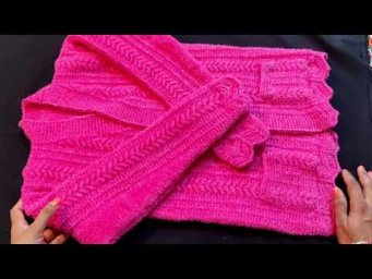 How to Knit Full Sleeves Sweater | Baby Sweater Measurement Easy Ways ( 12 to 14 Years )