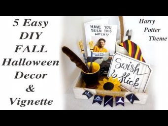 5 Easy Magical DIY Fall Halloween Farmhouse Vignette Harry Potter theme Decor MomDas Life Handmade