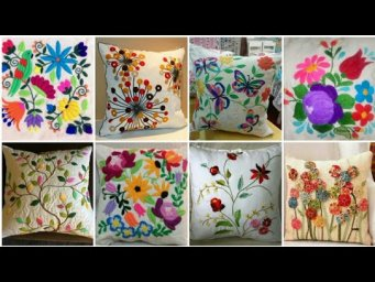 Hand Embroidery design for beginners / Embroidery for Cushion Covers designs ideas / Pillow Cover