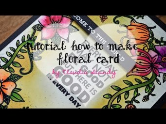 Tutorial: how to make a floral card with embossing technique