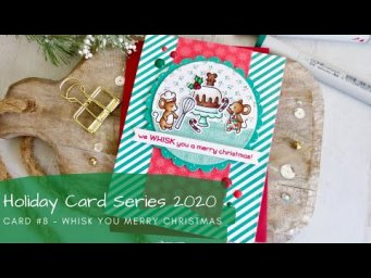 Holiday Card Series 2020 #8 | Copic Coloring + Patterned Paper Mixing | Lawn Fawn