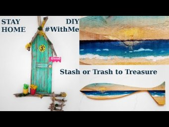 Pinterest Inspired Tiny Fairy Door Hanger & Beachy Fish Decor Trash to Treasure Useful DIY #WithMe