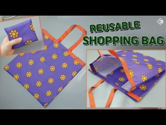 DIY REUSABLE GROCERY BAG/ Foldable shopping bag/ Market bag/ sewing tutorial [Tendersmile Handmade]