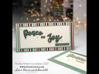 Pootles Advent Countdown 2020 How To Make a Slim DL Card
