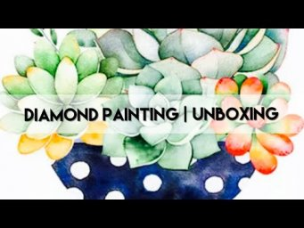 Diamond Painting - Unboxing | Homfun - Succulents