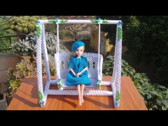3D Origami Swing For Doll | DIY Paper Swing for Barbie Doll