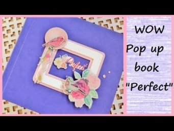 СКРАПБУКИНГ/Pop up book PERFECT #StayHome and Craft #WithMe I Crazy Paper/pop up scrapbook ideas