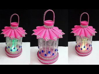DIY Lantern/Lampshade made with Plastic Bottle at home| Best out of waste room decoration ideas