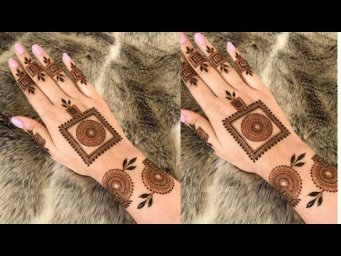 Eid\Ramzan Mehndi design 2021_New Simple Henna design_Easy Mehendi design back hand 2021