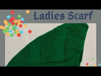Scarf knitting in Hindi, long tail triangle scarf easy knit for beginners