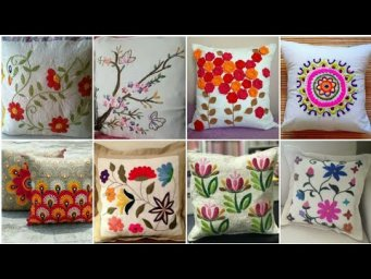Top Latest Hand Embroidery Flowers Cushion Covers Designs Ideas / Pillow Cover design / H H C
