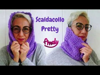 Scaldacollo Pretty  uncinetto facile ** Scarf crochet Easy crochet