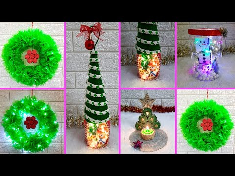 Economical Easy 4 Christmas Craft idea | Best out of waste Low budget Christmas craft idea (Part 5)