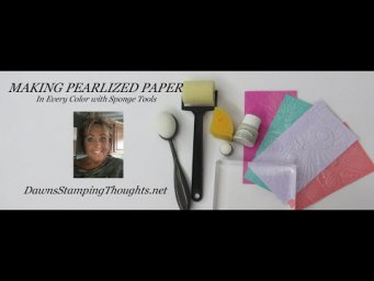How to Make Pearlized Paper in every color .