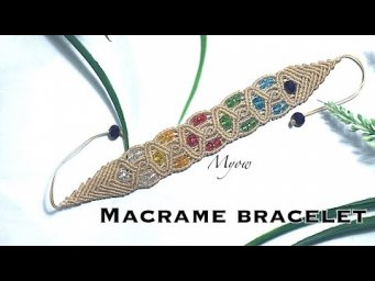 Macrame colored bracelet - Myow #78