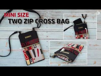 DIY SMARTPHONE CROSS BAG/ Mini cross bag/ 2 zipper pouch bag/ sewing tutorial [Tendersmile Handmade]