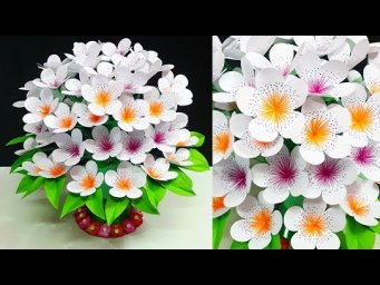 DIY-Easy Paper flowers Guldasta made with Empty Plastic bottles|Paper ka Guldasta Banane ka Tarika