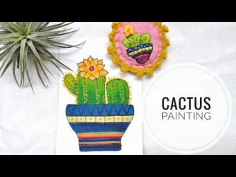 Easy & Simple Cactus Painting