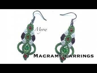 PIN EARRINGS - MACRAME TUTORIAL - MYOW#107