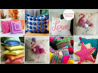 Pillow Cover Design | Cushion Cover Design Ideas | Home decoration | Pom Pom Pillows Ideas