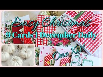 Spellbinders Card Kit November 2020 Recap | 9 Cards 1 December Daily 1 Kit | Easy Christmas Cards