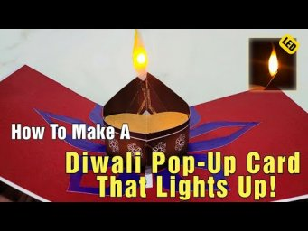 How To Make A Diwali Pop Up Card That Lights Up!