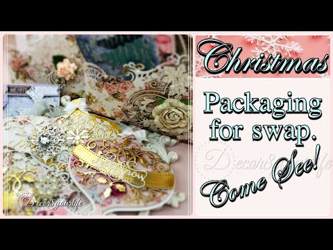 Pink Christmas Part 2 - This is how I packaged our Pastel Christmas Swap Goodies. Come See!
