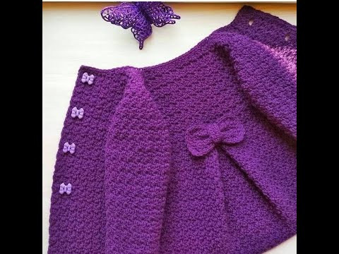 How to Crochet Top Down Coat for a 3 year old Part 1