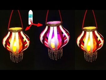 DIY: Lantern/Tealight Holder with waste Plastic Bottle|Best out of waste-Christmas decoration ideas