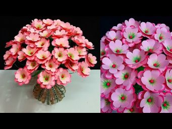 Bouquet/Guldasta made with Empty Plastic bottle & Paper  flowers |DIY-room decoration idea