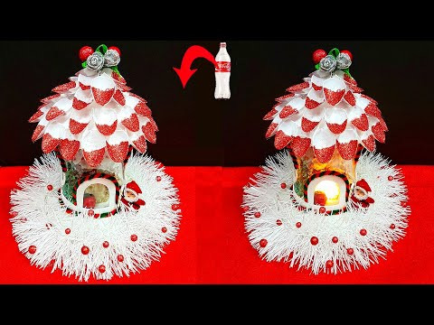 DIY-Christmas Showpiece made With Plastic Bottle| DIY Low budget Christmas craft ideas