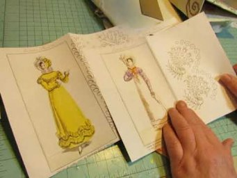 Embroidered Ladies of Paris: Making the Fabric Covered Covers