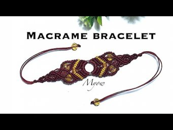Macrame bracelet with a ring- Myow #79