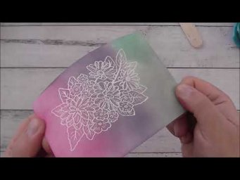 Stampin Up! Ornate Style Ink Blended Card