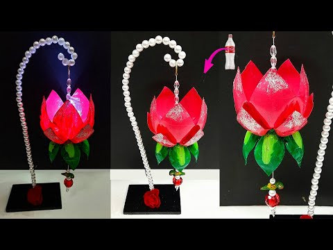 Best out of waste Showpiece/Tealight holder made from Plastic Bottle| DIY room decoration ideas