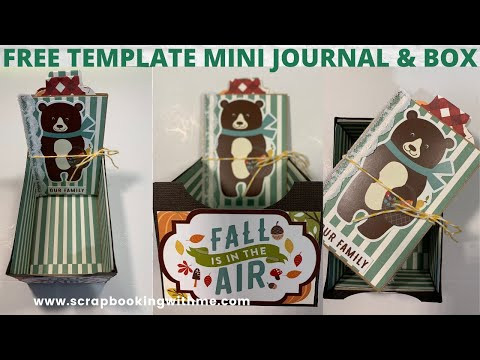 FREE TEMPLATE ~ TABLE FAVOR WITH MINI FAMILY JOURNAL