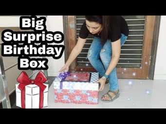 Surprise Birthday Box Tutorial|| How To Make big surprise Birthday box