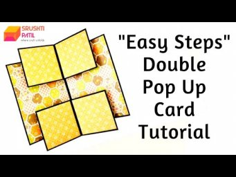 Double Pop Up Card (Easy Steps) Tutorial by Srushti Patil