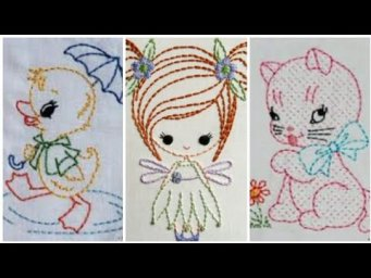 Super Easy Basic Hand Embroidery Patterns / easy hand embroidery design for beginners / H H C