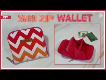 DIY/ ACCORDION MINI ZIP WALLET/ CARD & COIN PURSE/ 아코디언 미니 지갑 만들기/ CUTE ZIPPER POUCH/ 패턴공유/ sewing