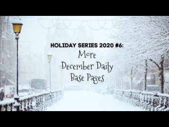 More December Daily Foundation Pages | Holiday Series 2020 #6